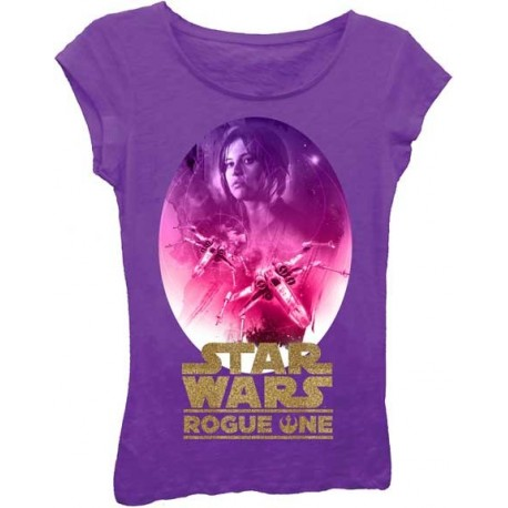 Disney Star Wars Rogue One Jyn Erso Purple Princess Tee At Houston Kids Fashion Clothing