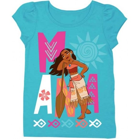 Disney Moana Aqua Toddler Girls Puff Sleeve Tee Houston Kids Fashion Clothing Store