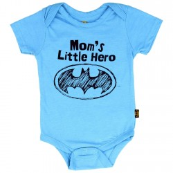 Batman Baby Clothes Mom's Little Hero Blue Infant Onesie At Houston Kids Fashion Clothing