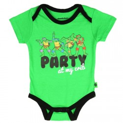 Nick Jr Teenage Mutant Ninja Turtles Party At My Crib Green Onesie