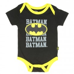 DC Comics Batman Batman Batman Black Baby Onesie Free Shipping Houston Kids Fashion Clothing