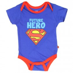 DC Comics Superman Future Hero Blue Infant Onesie