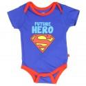 DC Comics Superman Future Hero Blue Infant Onesie