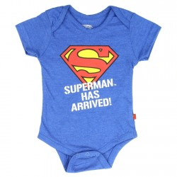 DC Comics Superman Has Arrived Blue Infant Onesie