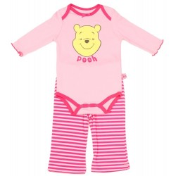 Disney Winnie The Pooh Pink Infant Girls Long Sleeve Outfit