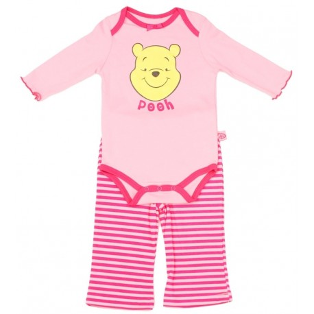 Disney Winnie The Pooh Pink Infant Girls Long Sleeve Pink Onesie and Pants Houston Kids Fashion Clothing