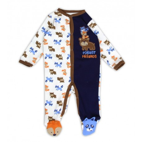 Buster Brown Forest Friends Footed Snap Down Sleeper Houston Kids Fashion Clothing Store