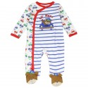 Buster Brown Lil Heroes White Snap Down footed Sleeper At Houston Kids Fashion Clothing Store