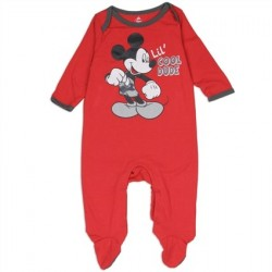 Disney Mickey Mouse Lil Cool Dude Red Infant Footed Sleeper