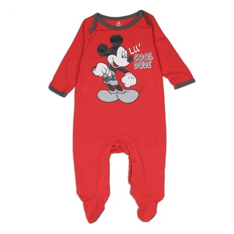 Disney Mickey Mouse Lil Cool Dude Red Footed Infant Boys Sleeper At Houston Kids Fashion Clothing Store
