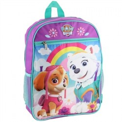Nick Jr Paw Patrol Everest And Skye Purple Girls School Backpack