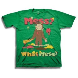 Curious George Mess What Mess Toddler Green Short Sleeve T Shirt