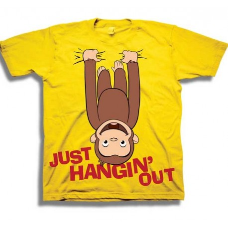 Curious George Just Hanging Out Toddler Boys Shirt Houston Kids Fashion Clothing