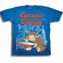Curious George Making Some Mischief Toddler Blue Graphic T Shirt At Houston Kids Fashion Clothing