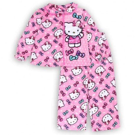 Hello Kitty Pink Button Down Top & Pants Toddler Pajama Set Houston Kids Fashion Clothing Store