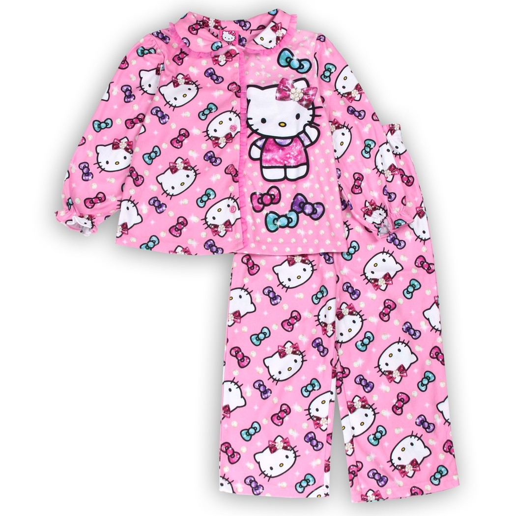 b5fb20694 Hello Kitty Pink Button Down Top & Pants Toddler Pajama Set Houston Kids  Fashion Clothing Store