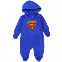 DC Comics Superman Blue Infant Lightweight Polar Fleece Pram At Houston Kids Fashion Clothing