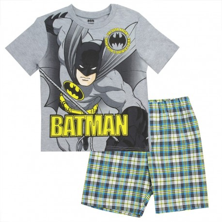 Batman The Dark Knight Every Criminals Nightmare Grey Shirt And Plaid Shorts At Houston Kids Fashion Clothing Short Set