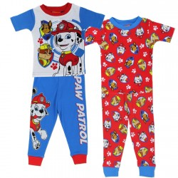 Nick Jr Paw Patrol Chase Marshall And Rubble 2 Pack Sleepwear Set