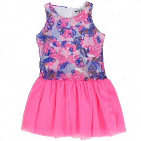 Kensie Pink and Purple Flower Toddler Summer Dress At Houston Kids Fashion Clothing