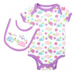 Weeplay Best Friends White Ladybug Onesie And Bib