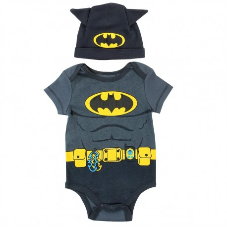 DC Comics Batman Baby Onesie With Hat With Bat Ears At Houston Kids Fashion Clothing