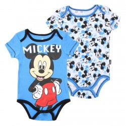 Disney Mickey Mouse Blue Mickey Onesie White Mouse Ear Onesie