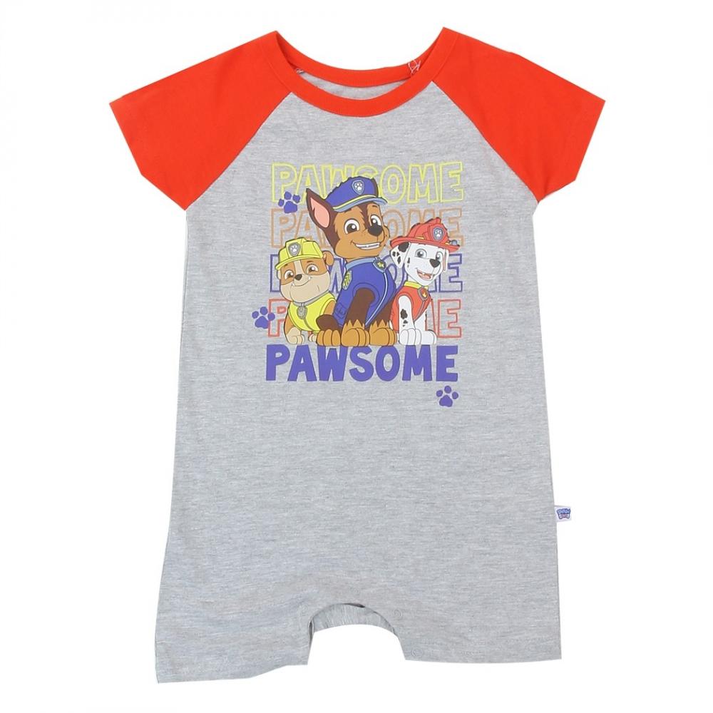 Nick Jr Paw Patrol Pawsome Grey Baby Boys Romper Free