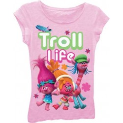 Dreamworks Trolls Light Pink Troll Life Girls Princess Tee Houston Kids Fashion Clothing