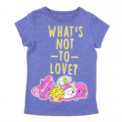 Shopkins Whats Not To Love Heather Navy Girls T Shirt