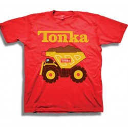 Tonka Trucks Red Infant Boys Short Sleeve Shirt