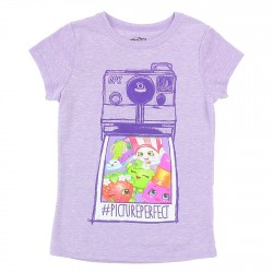 Shopkins Picture Perfect Heather Lavander Girls T Shirt