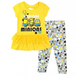 Universal Despicable Me Minions Yellow Top With Leggings At Houston Kids Fashion Clothing