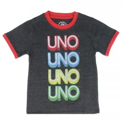 Mattel Toy Box Treasures Uno Charcoal Infant Boys Shirt