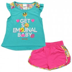 Emoji I Get So Emotional Baby Jade Top With Pink Shorts