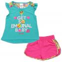 Emoli I Get So Emotional Baby Jade Top With Pink Shorts At Houston Kids Fashion Clothing