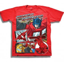 Transformers More Than Meets The Eye Red Boys Shirt