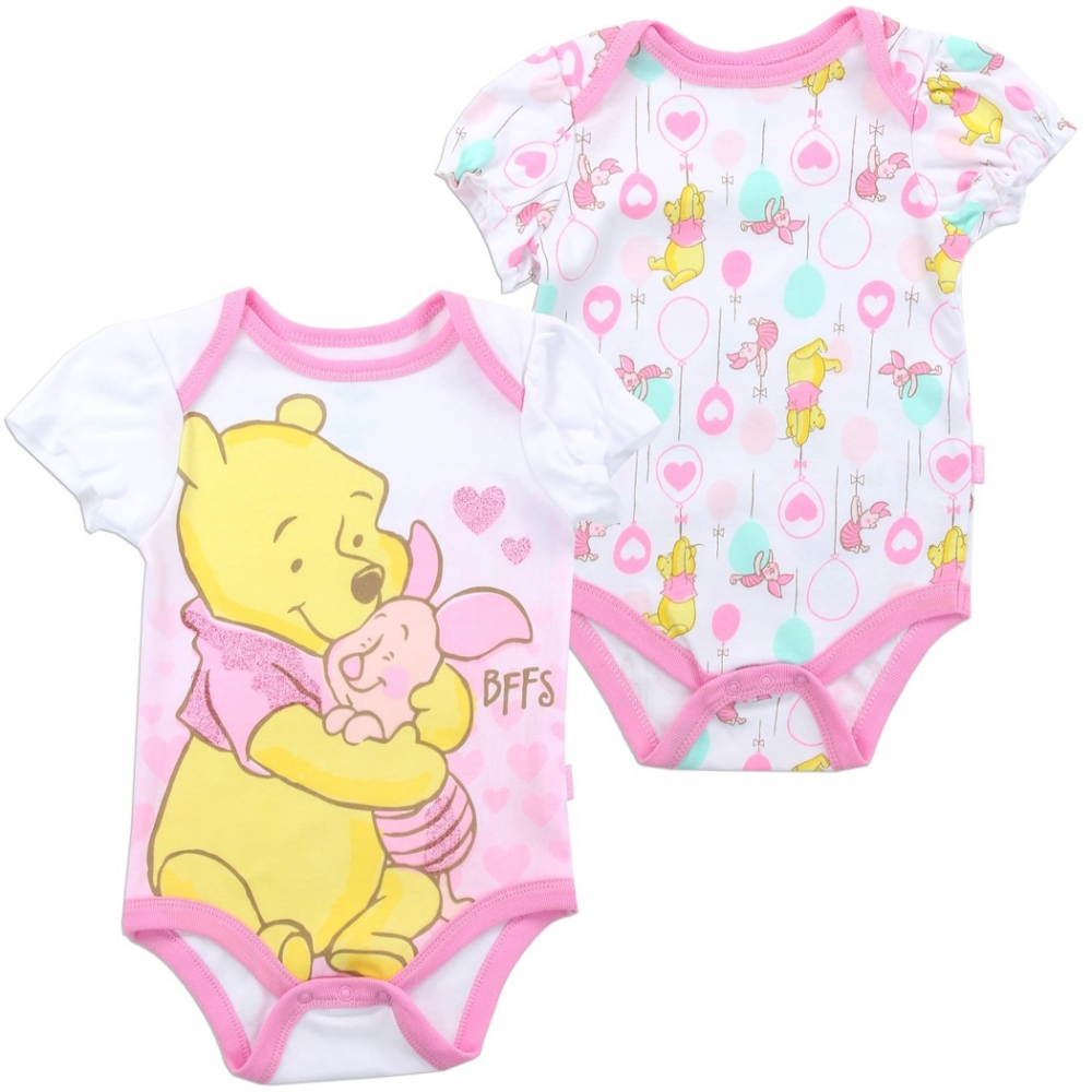 0f1f9dae5163 Disney Winnie The Pooh And Piglet Baby Onesie Pack Free Shipping Houston  Kids Fashion Clothing. Loading zoom