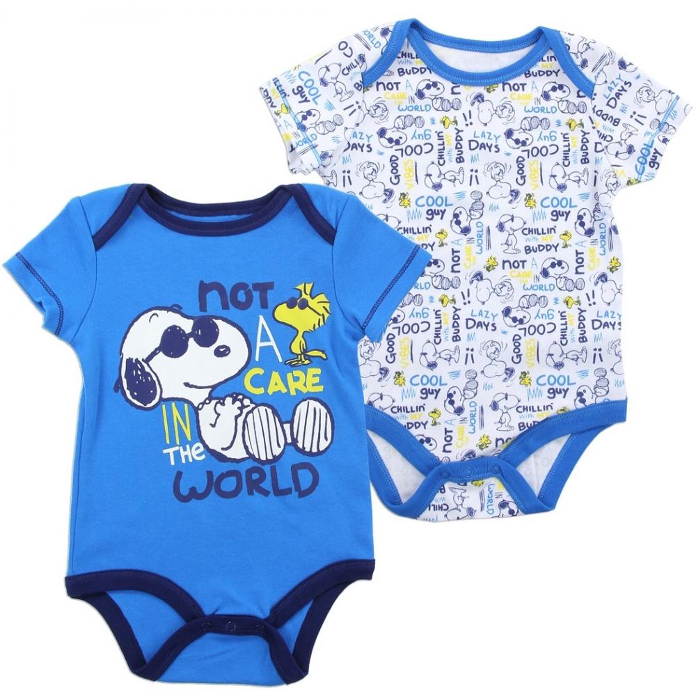 930241d712fb Snoopy And Woodstock Baby Boys Onesie Set