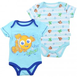 Disney Nemo and Squirt Auqa Onesie Set