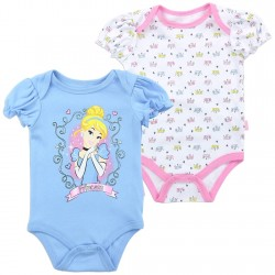 Disney Cinderella Princess Blue And White Crown Covered Onesie At Houston Kids Fashion Clothing