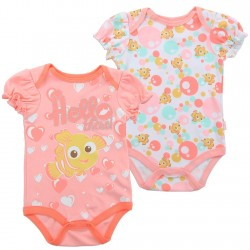Disney Nemo Coral And White Hello There Onesie Set