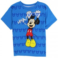 Disney Mickey Mouse Blue Toddler Boys Short Sleeve Shirt