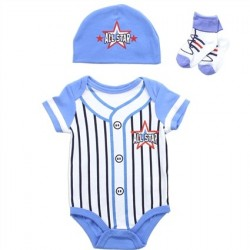 Buster Brown All Star Baseball Infant 3 Layette Set