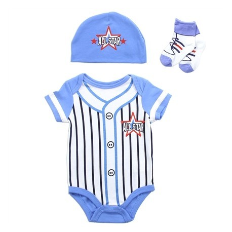 Buster Brown Allstar Baseball Pin Stripe Jersey Onesie Cap And Socks Layette Set Houston Kids Fashion Clothing Store