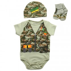 Buster Brown Safari Adventures 3 Piece Infant Boys Layette Set