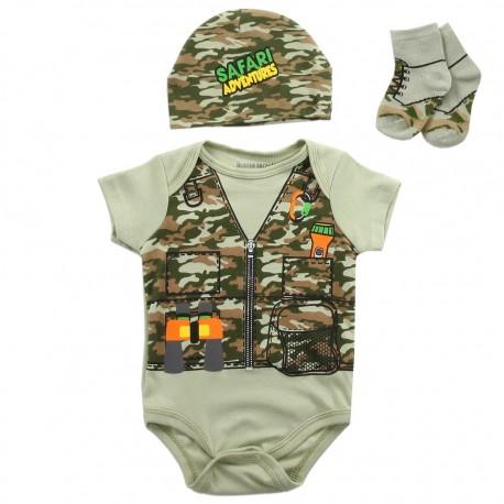 Baby Boys Buster Brown Safari Adventures 3 Piece Infant Set At Houston Kids Fashion Clothing