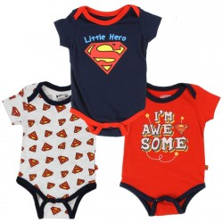 DC Comics Superman I'm Awesome Infant 3 Piece Onesie Set