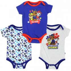 Nick Jr Paw Patrol Pawsome Work 3 Piece Baby Onesie Set