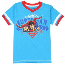 DC Comics Boys Superman The Man Of Steel City Of Metropolis Blue Short Sleeve Shirt At Houston Kids Fashion Clothing Store